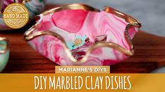 DIY Marbled Clay Dishes - HGTV Handmade