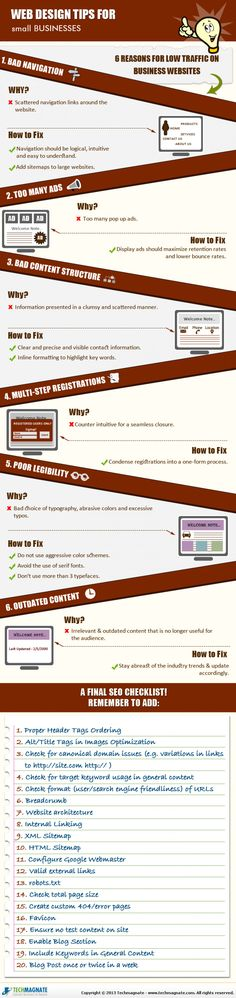 Web Design Tips For Small Businesses Infographic