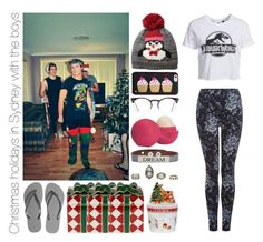 Christmas holidays in Sydney with the boys by michaelssmile on Polyvore featuring polyvore fashion style New Look Dex Havaianas Good Work(s) D&Y Kate Spade Spitfire Eos Waterford Spode clothing