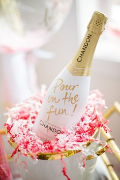 Pour on the fun! http://www.stylemepretty.com/living/2015/02/11/a-galentines-soiree/ | Photography: Abby Jiu - http://www.abbyjiu.com/