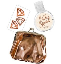 Our Bride Squad Rose Gold Favor Kit is an ideal gift for the bachelorette party on the move! Bachelorette Party Scavenger Hunt, Bachelorette Party Decorations, Bachelorette Party Favors, Inexpensive Party Favors, Party Kit, Party Guests, Squad, Rose Gold, Bride