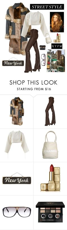 """NYFW"" by kotnourka ❤ liked on Polyvore featuring Kolor, Maurizio Pecoraro, Chanel, Nanette Lepore, Guerlain, Louis Vuitton and Bobbi Brown Cosmetics"