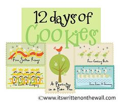 It's Written on the Wall: {Recipes} 12 Days of Delicious Christmas Cookies