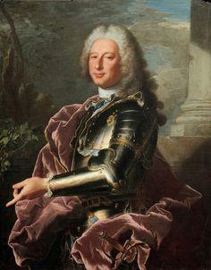 "Hyacinthe RIGAUD, ""Retrato del Marqués Giovan Francesco II Brignole-Sale, Dux de Génova (1695-1760)""; óleo sobre lienzo, 1739."