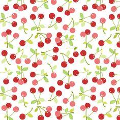 cherries fabric by katarina on Spoonflower - custom fabric