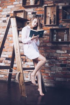 #books #girl #portrait #loft