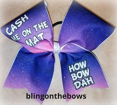 CASH ME ON THE MAT cheer bow