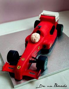 F1 cake Tarta fórmula 1 Ferrari