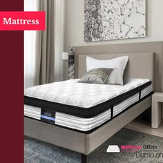 🛍LAY DOWN FOR LESS At #MATTRESSOFFERS - FOR YOUR BEAUTIFUL HOUSE🛍  Afterpay Mattress – Turn your bedroom into a lavish sleep haven   We definitely spend approximately one-third of our lives in bed, and that's one reason for choosing the right mattress for you. It's one of the most essential decisions you'll need to make for a good night's sleep. Besides, your overall health and well-being are highly affected when you sleep on a low-quality mattress.  #Afterpaymattress #shophumm Euro Top Mattress, Single Size Bed, When You Sleep, Garden Furniture, Beautiful Homes, Home And Garden, Beds, Bedroom, Bedding