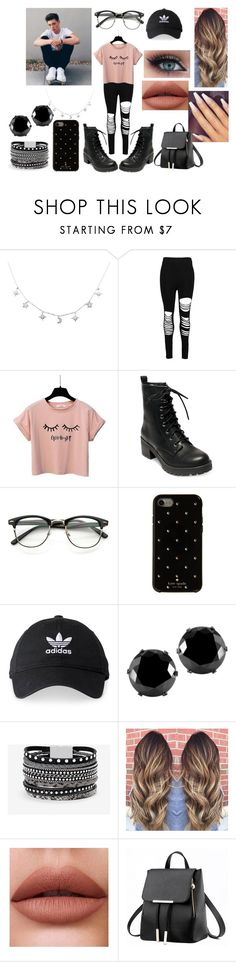 """""""Fall Lunch With Zach Herron"""" by roxy-crushlings ❤ liked on Polyvore featuring Boohoo, Madden Girl, Kate Spade, adidas, West Coast Jewelry, White House Black Market, whydontwe and zachherron"""