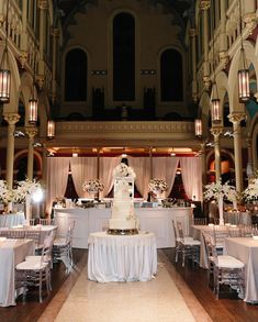 Clear chiavari chairs in use at Sacred Heart Cultural Center for an Augusta GA Wedding