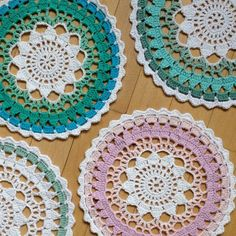 playing with colours  crochet mandala by knitirene