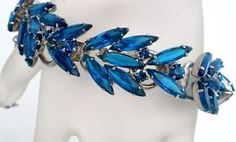 Vintage Juliana Rhinestone Bracelet Sapphire Blue D E Prong Set High End | eBay