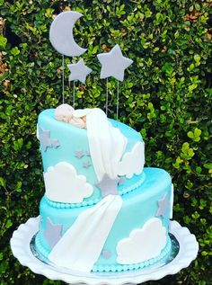 Sent From Heaven Baby Shower Cake Angel Baby Shower, Idee Baby Shower, Baby Shower Cakes For Boys, Boy Baby Shower Themes, Baby Shower Games, Baby Shower Parties, Baby Boy Shower, Baby Showers, Baby Sprinkle