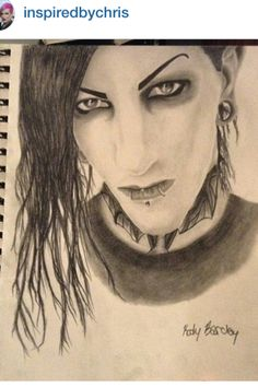 Chris motionless drawing
