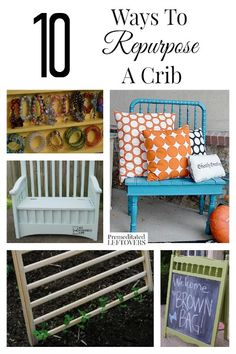Do you have an old crib laying around? Here are 10 Ways to Repurpose a Crib to inspire you to create something awesome from it!