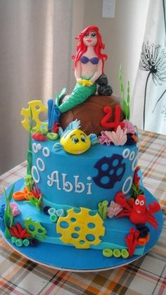Ariel cake birthday ideas pinterest an cakes and ariel for Ariel cake decoration