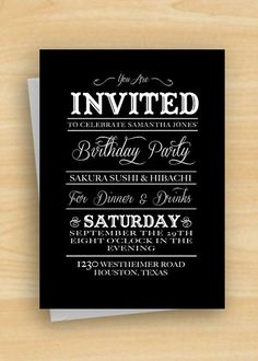 Everybody loves having birthday party. Many things are essential for the birthday party. One of them is invitation card. I am going to give you some tips about how to design birthday invitations.Before you make the birthday invitations, first you hav Vintage Birthday Invitations, Birthday Party Invitation Wording, Mickey Mouse Birthday Invitations, Birthday Banners, Invites, Adult Party Themes, Gender Reveal Invitations, Vintage Style, Vintage Country