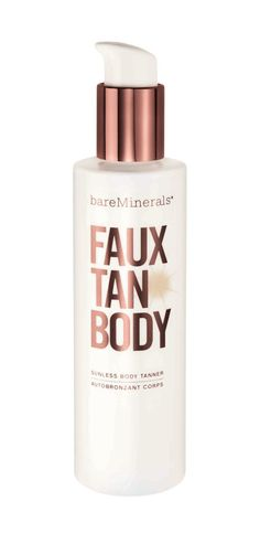 """Formula: BareMinerals Faux Tan Body, $26 Best for: Just a hint of bronze How it went on: """"It's a dark brown lotion, which worried me at first. But I could see exactly where I should blend, so I didn't miss a single spot."""" How it smelled: """"The smell was delicious, actually—sweet and almondy."""" How it looked: """"The results were subtle but looked natural with my blonde hair and fair skin. And the color stayed true for five full days."""" —Ashley Niedringhaus, editorial assistant"""