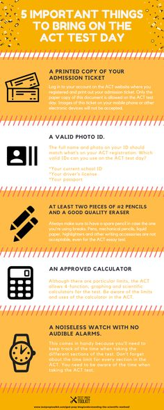ACT test prep is not just about studying for months, but also preparation to ensure everything goes as planned for the test day. College Test, College Life, Act Test Prep, Act Testing, Admission Ticket, Test Day, Body Language, Dream Life, Infographics