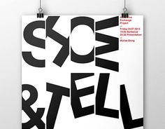 """Check out new work on my @Behance portfolio: """"SHOW&TELL Poster"""" http://be.net/gallery/37677961/SHOW-TELL-Poster"""