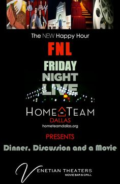 Get the FULL #HOMETEAM #DALLAS #EXPERIENCE this #FRIDAY NIGHT! #FNL #FRIDAYnightLIVE hometeamdallas.org
