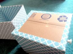 DIY Storage Bins Made from Cardboard Boxes