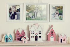 diy sparkle house christmas village, so cute! so easy! so inexpensive!  project with the girls