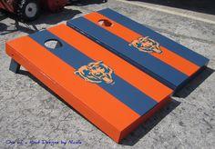 Custom cornhole sets- Regulation Size- Chicago Bears.