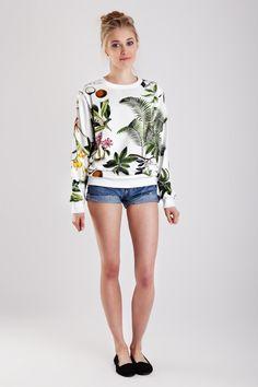 etsyfindoftheday | 7.12.14 tropical sweatshirt by yeahbunny