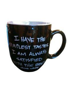 Black Oscar Wilde Quote Mug by PenEndeavors on Etsy, $16.50