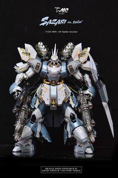 GUNDAM GUY: MG 1/100 Sazabi Ver. Snow - Customized Build