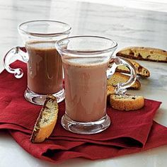 Mocha Hot Chocolate Recipe | I feel like this is an intensive, portentously expensive way to do something that could be much simpler, but damn it sounds good!