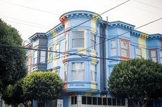 Colorful building in San Francisco's Hayes Valley