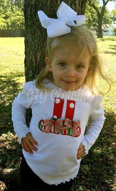 Elf shoe appliqued tshirt or onesie s newborn to 5t by GFJClothing