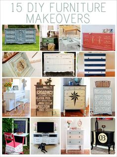 Revamp Your Old Furniture With 15 DIY Makeovers