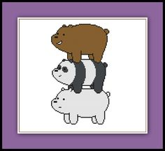Bear Stack Cross Stitch Pattern We Bare Bears by SpriteStitches