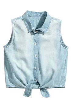 Camisa vaquera sin mangas