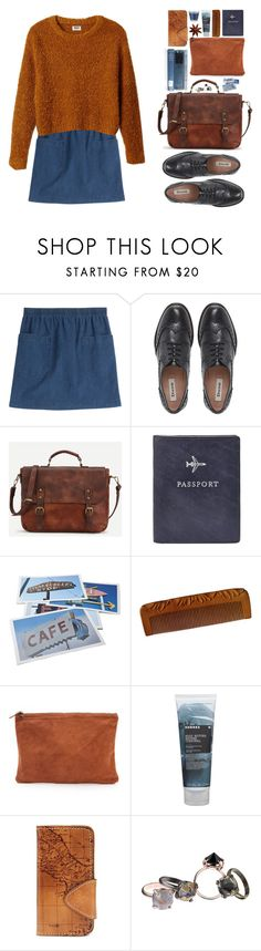 """Без названия #136"" by sinyukovayulya ❤ liked on Polyvore featuring A.P.C., Dune, FOSSIL, Bob's Your Uncle, Clare V., Korres, Patricia Nash and Made Her Think"