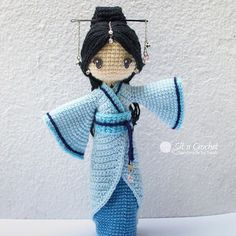 Amigurumi Japanese girl doll in a kimono. (Inspiration). By GIRLS'n'DOLLS | VK