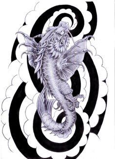 dragon artwork | koi dragon tattoo design by ~tylerrthemesmer on deviantART