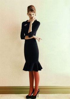 fluted skirt and boat neck collar #fashion #dress