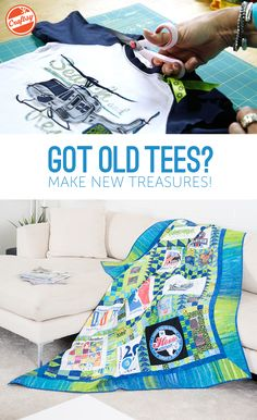 Enjoy step-by-step guidance as you make a T-shirt quilt that showcases all your favorite memories. Discover easy techniques in fun, expert-led online video lessons you can watch anytime, anywhere!