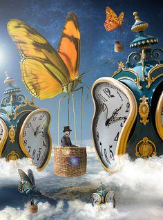 Photoshop Creative Magazine 142 on Behance Surreal Collage, Surreal Art, Collage Art, Dream Collage, Surrealism Painting, Painting Art, Oil Paintings, Salvador Dali Kunst, Salvador Dali Paintings