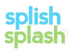 SPLISH Splash - Childrens Kids Bathroom Decor - Digital File to Print - Teal & Lime Modern Simple Subway Art. $3.00, via Etsy.