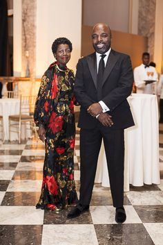 Thelma Golden, Director and Chief Curator of The Studio Museum in Harlem, with husband/designer, Duro Olowu.