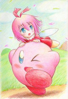 Ribbon and Kirby ^-^