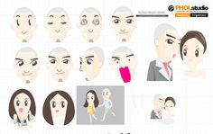 Character Design   Pae & Pao  for Wedding  Animation  click : https://youtu.be/6MjqtqSpa7U