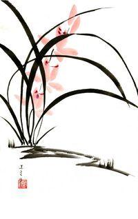 Sumi-e Orchids 1 by Lunael on deviantART