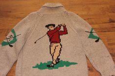 Cowichan Golf 1950s Vintage Sweater
